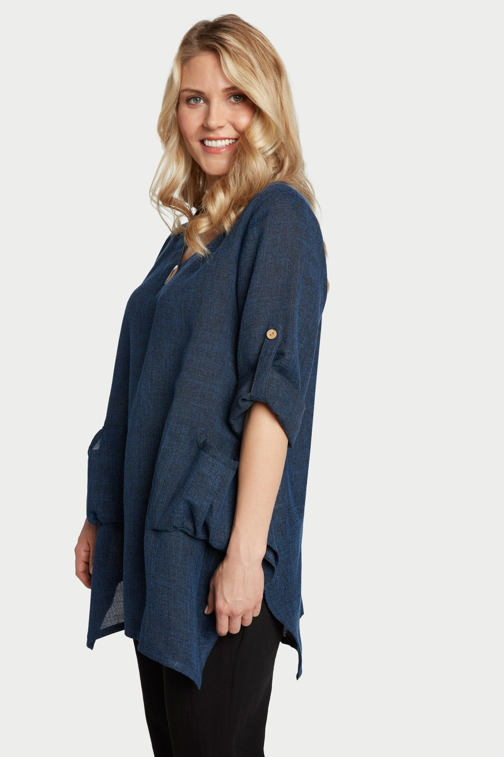 AA7139 - Artist Tunic Black/Navy Heathered - JC29