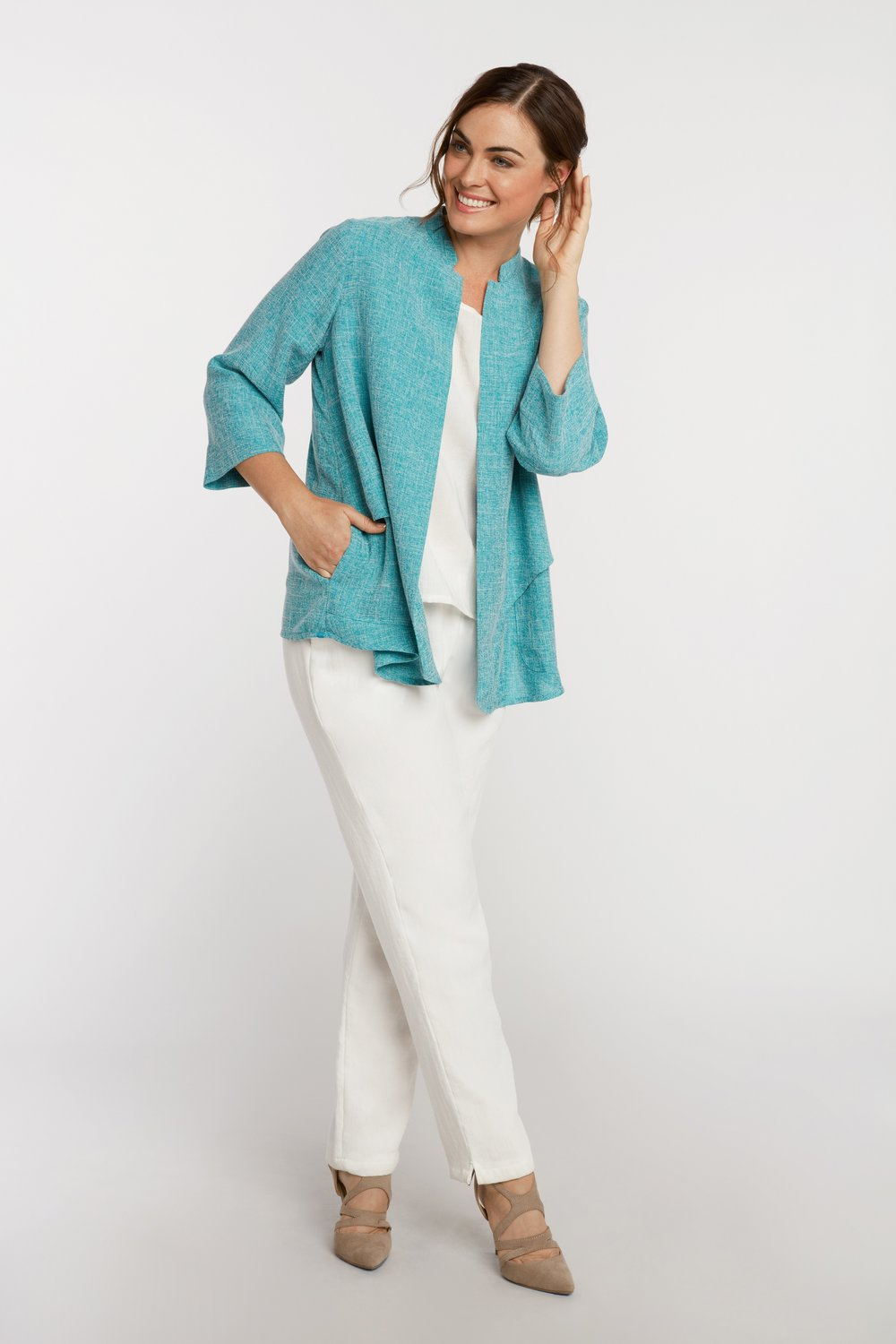 0642b17f932 AA7137 - Waterfall Jacket — Fridaze - The Original Wrinkle-Resistant Linen  Collection