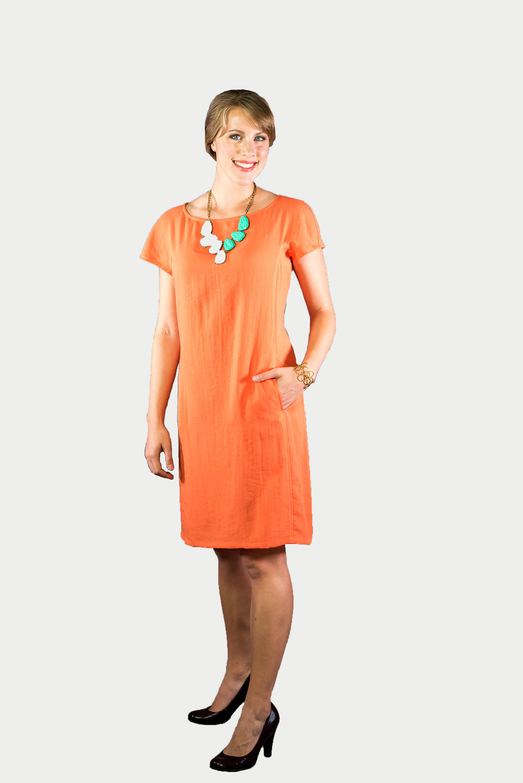 9f3868ecf24 AAD199 - Cap Sleeve Dress — Fridaze - The Original Wrinkle-Resistant Linen  Collection
