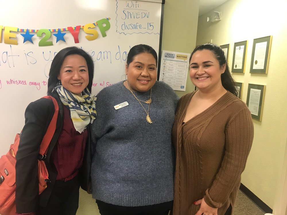 SAVE Supporter Appreciation Open House 2019: (L-R) Fridaze Owner, Joyce Tang with SAVE's Youth Program Director and Manager.