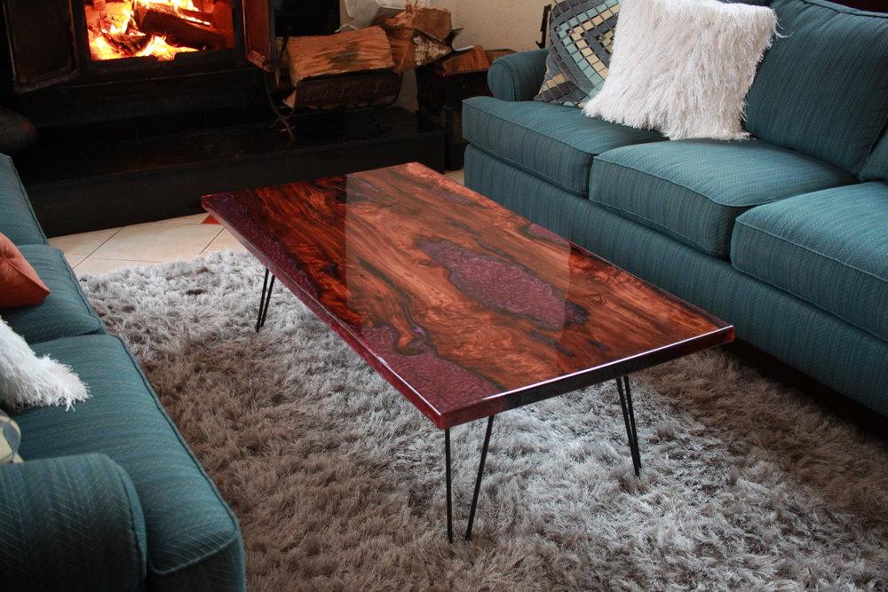 Redwood Epoxy Table