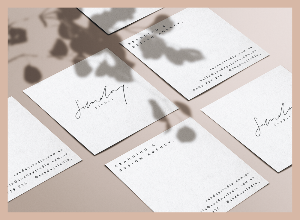 Sunday Studio designs branding with substance - Our website is getting a refresh! Check back soon.