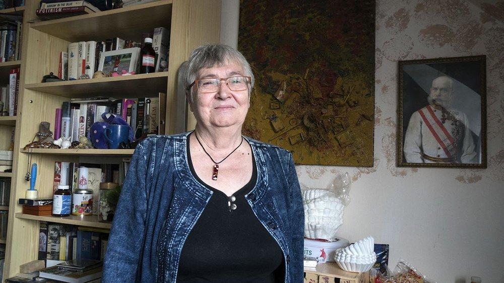Petruška Šustrová nella sua casa di Praga.