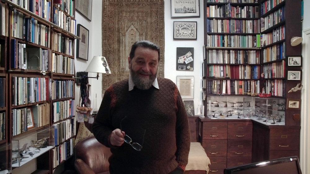 Konstanty Gebert nella sua casa di Varsavia.