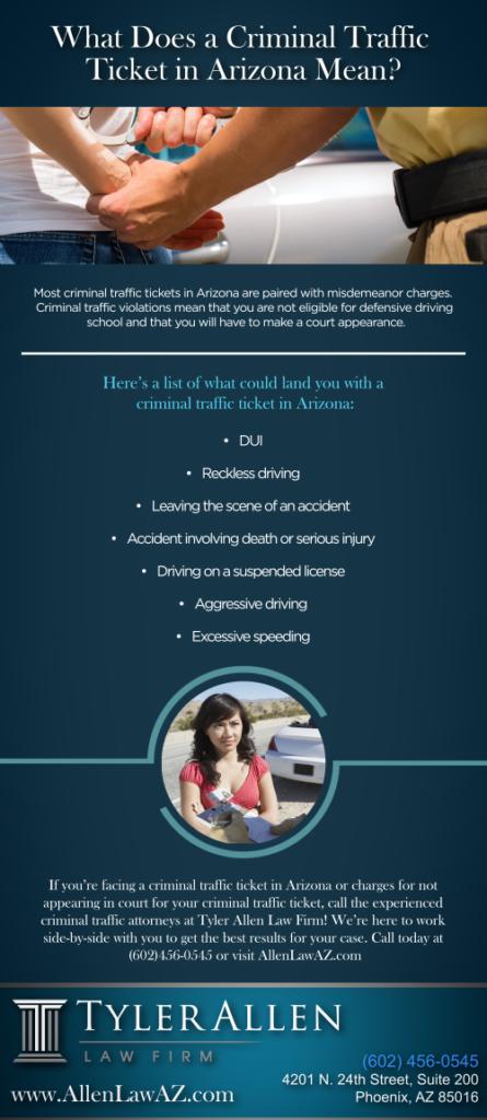 Criminal Traffic Ticket in Arizona