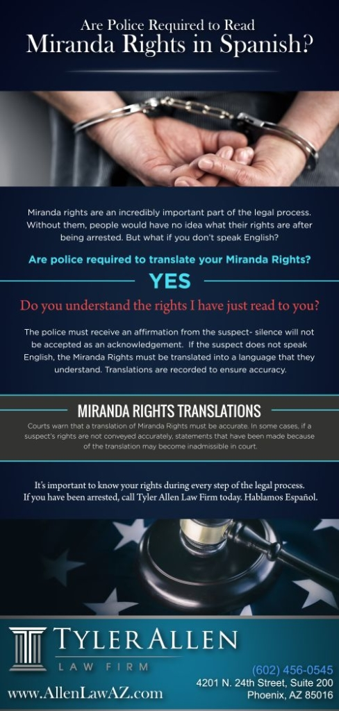 Are the police required to read your miranda rights in spanish?
