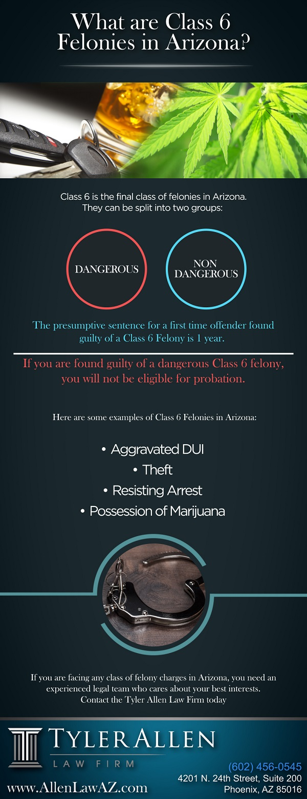 What are Class 6 Felonies in Arizona