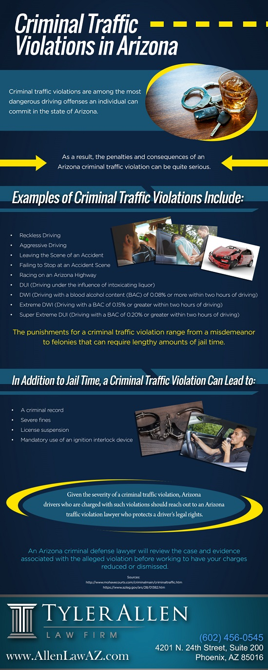 Criminal Traffic Violations in Arizona