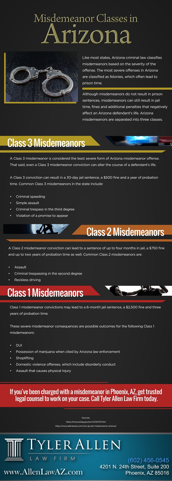 Misdemeanor Classes in Arizona