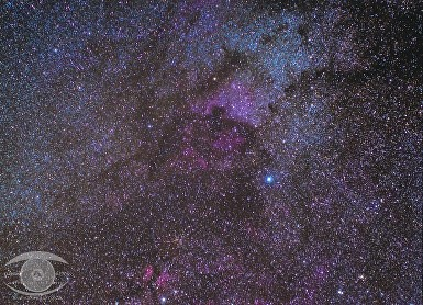 Cygnus / Deneb Region of the Milky Way.  1H 20M of 5 minute exposures @ ISO 800