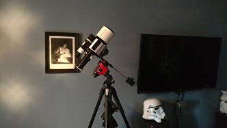 Explore Scientific ED80 mounted on the  Star Adventurer
