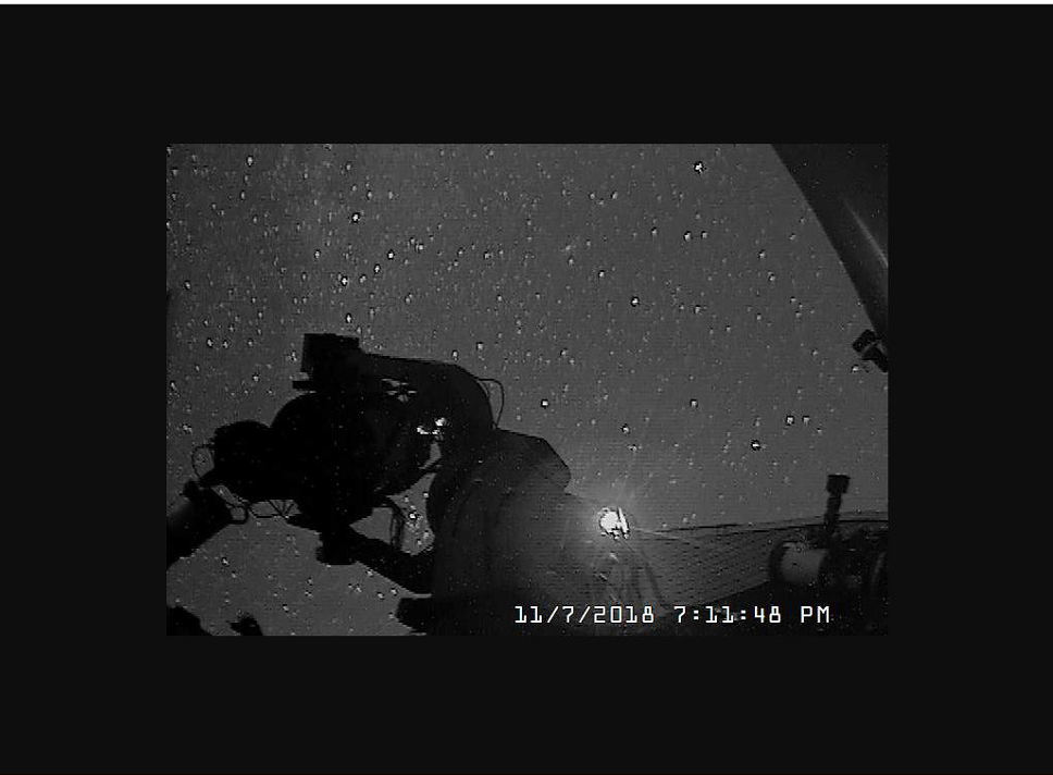 Screenshot from the live camera feed from inside the observatory