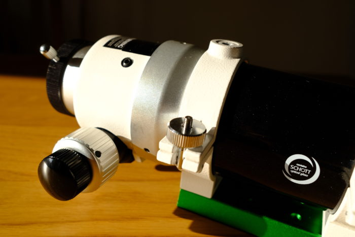 SkyWatcher Evostar 72ED 2″ Crayford-type dual-speed focuser. So smooth and precise.