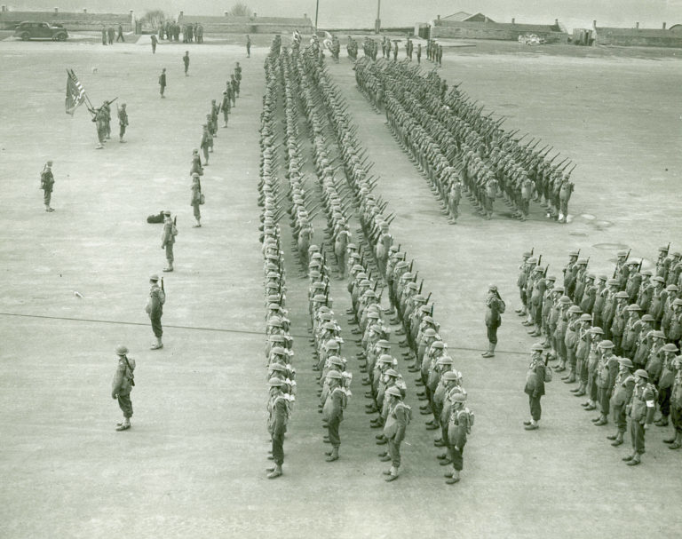 U.S. Troops Arrive in Ebrington Square