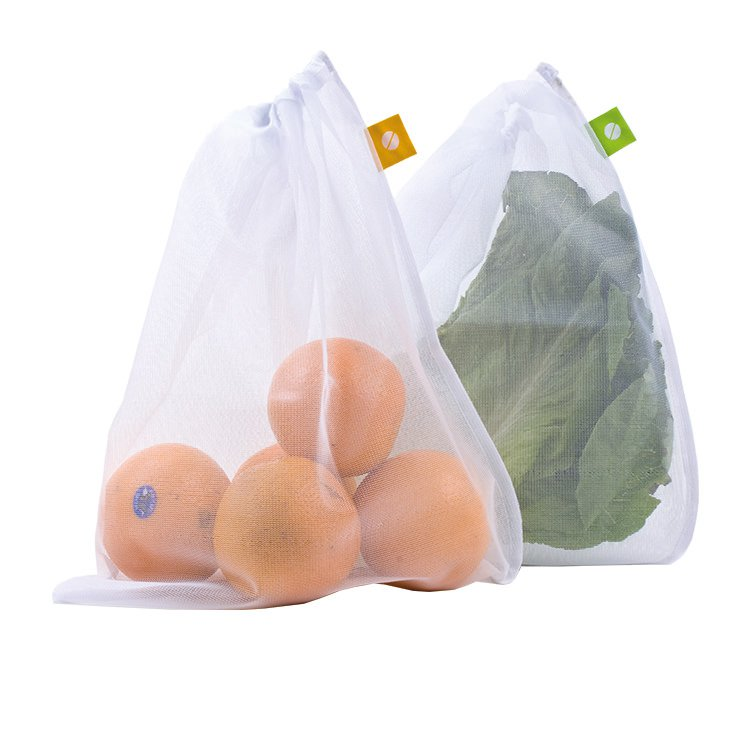 Reusable produce bags - Most produce is individually wrapped in plastic or you have to get a plastic bag to carry the produce in. All these little plastic bags that most likely will not get reused.In solution to this you can get these reusable bags that you just have to remember to take to the store with you. You could get a big tote bag to store everything in and use it as a grocery bag!