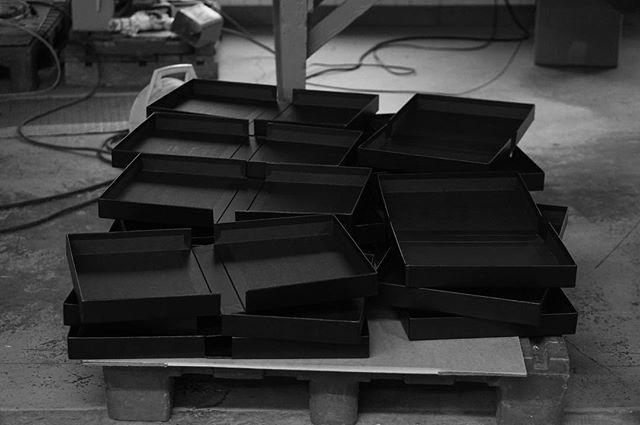 Portfolio Cases in the factory.
