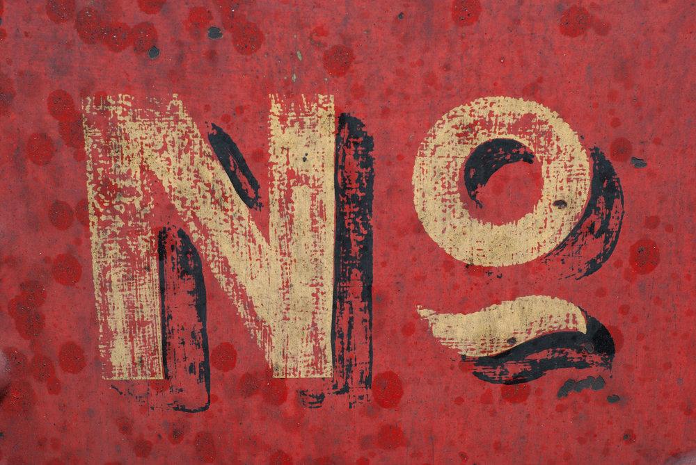"A design that says, ""no."""