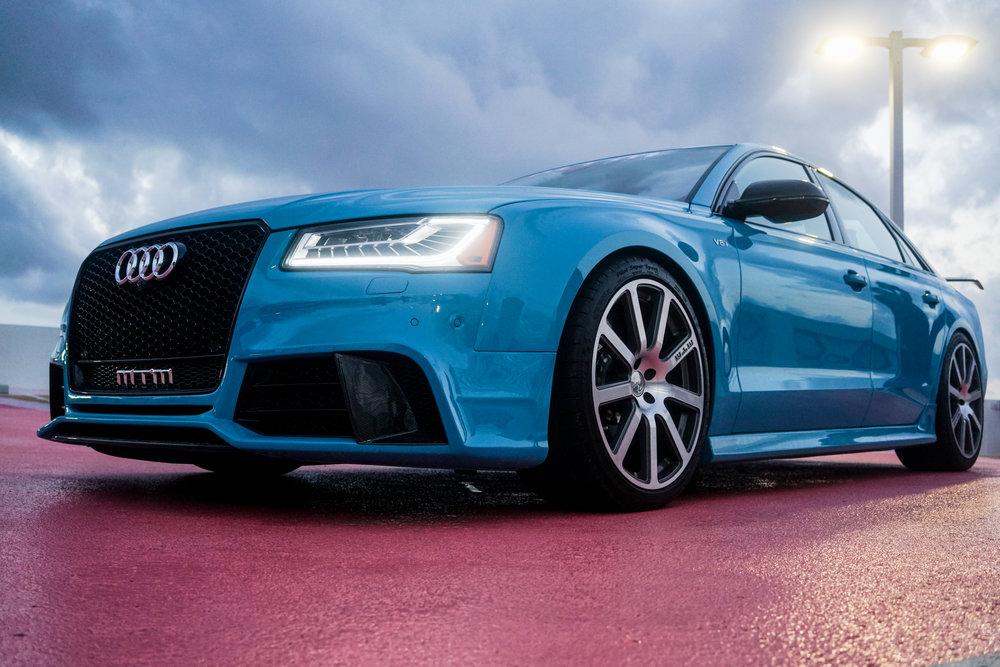 An Audi car.