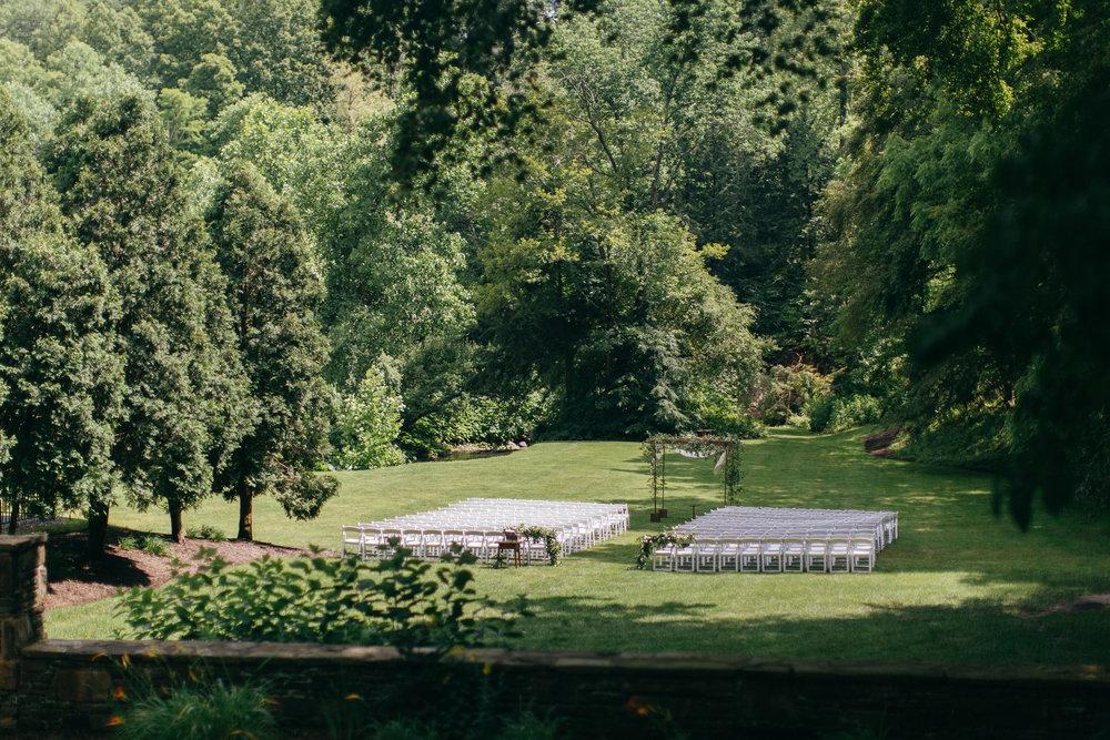 Cleveland Wedding Planner Modern Vintage Garden Wedding ceremony set up .jpg