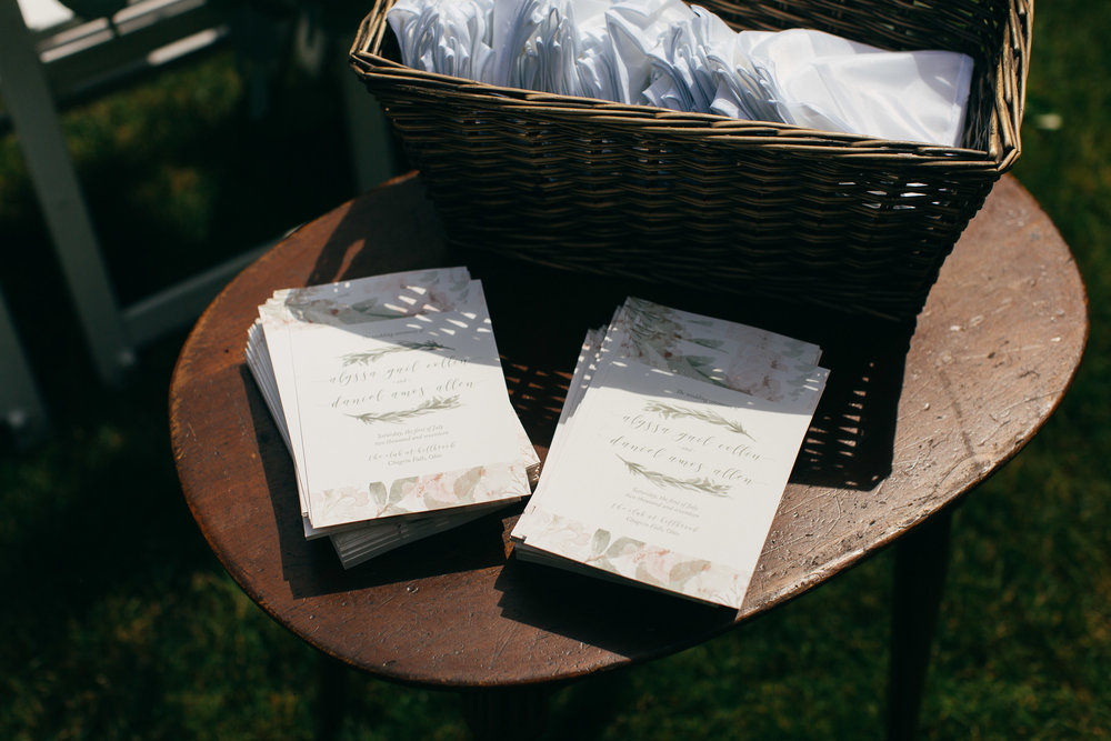 Cleveland Wedding Planner Modern Vintage Garden Wedding welcome tabe .jpg