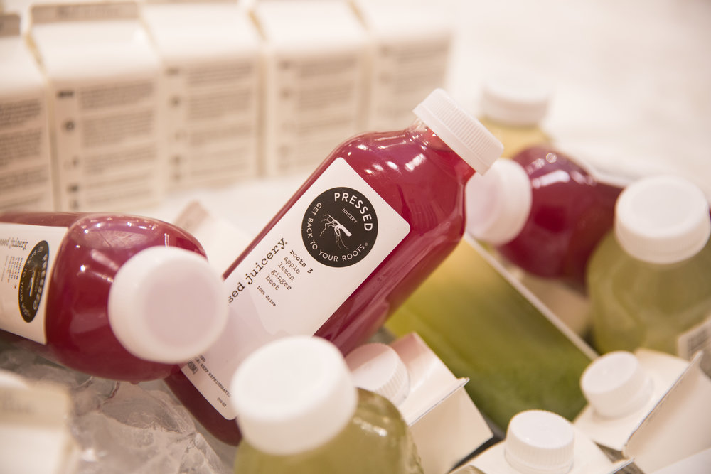 Trellis always has chilled  Pressed Juicery  ready for visitors.