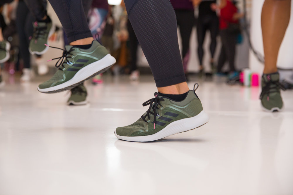 Each attendee received a new pair of Adidas shoes upon her arrival. These kicks were designed by the Ally herself.