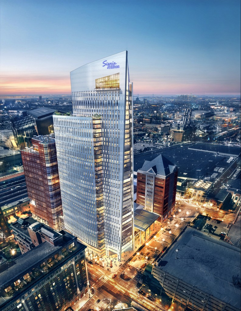 A rendering of the Signia Hilton in Indianapolis. Image courtesy of Hilton.