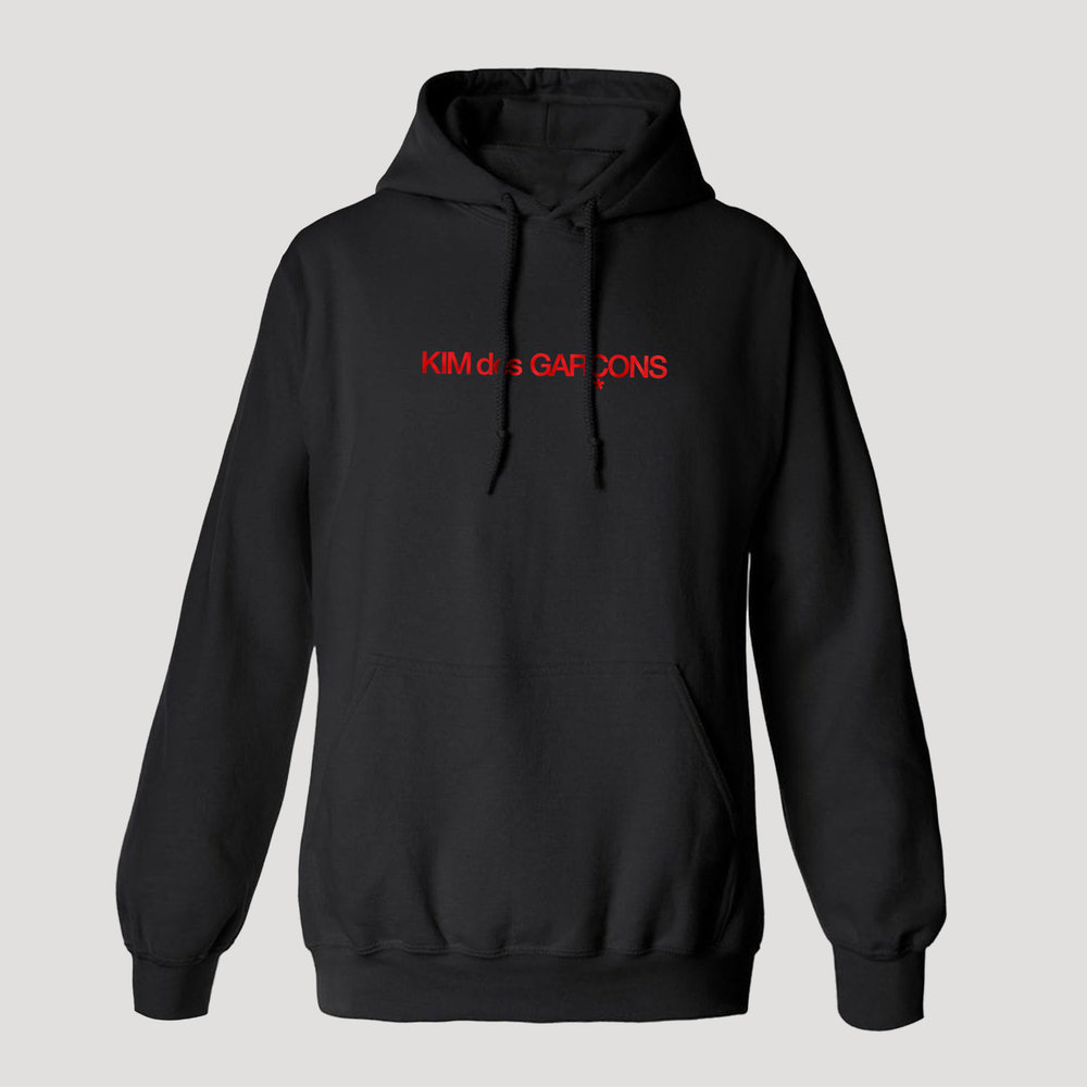Kim des Garçons Hoodie, Diet Prada, 2018. Image courtesy of Diet Prada.