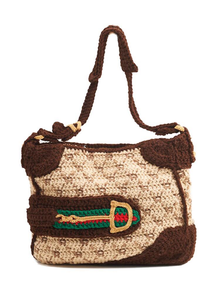 Gucci Bag from The Counterfeit Crochet Project [Critique of a Political Economy],  Stephanie Syjuco, 2006. Image courtesy of Catherine Clark Gallery, San Francisco.