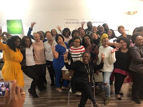 Sylvia High with the Game Changer February 2019 Graduates