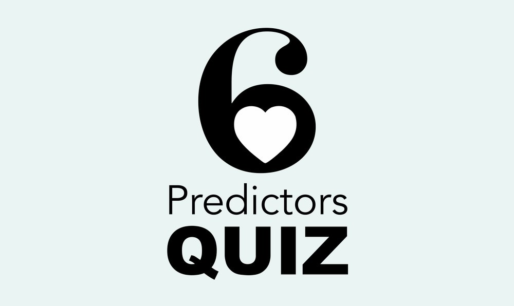 """Coaching Quiz - We've created a 6 Predictor Quiz based on our best selling book """"Matchmaker's Secrets, The Six Predictors of Dating Success"""". Take the Quiz and see your chances of finding love."""