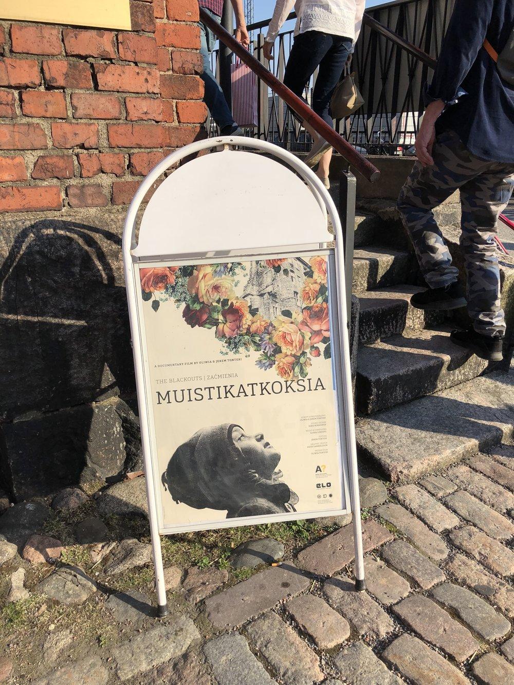 The Blackouts – Muistikatkoksia. Documentary film premiere in May 2018 at Kino K13 in Helsinki.