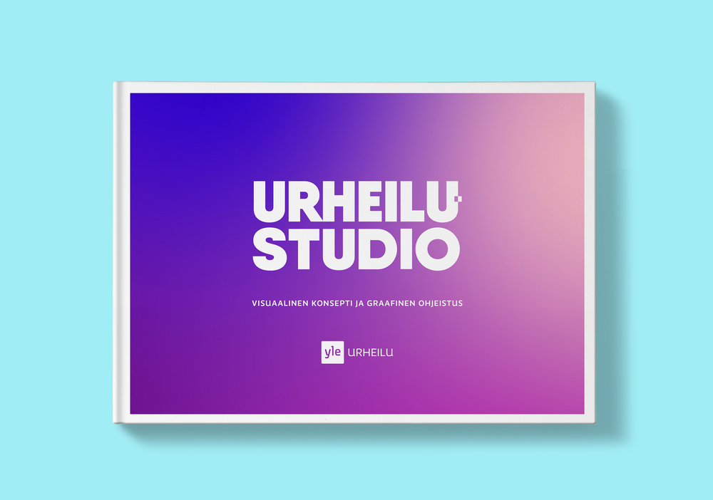I opened the visual concept and wrote and designed graphic guidelines for Urheilustudio. Below click the image to view some samples of the guidelines.