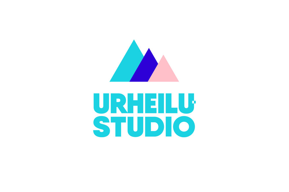 Urheilustudio logo with icon, 3-color