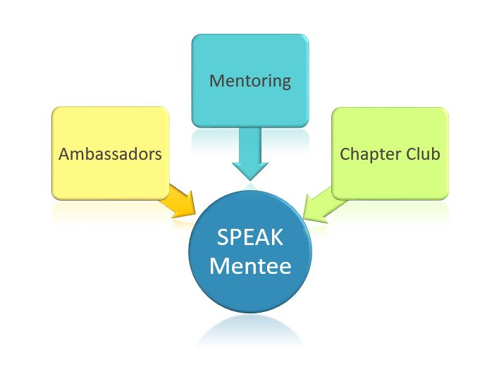 Our 3-Pronged Holistic Approach ensures college and career preparedness - SPEAK mentees are supported in school through a peer community that meets in a Chapter Club, led by peer leaders called Ambassadors, and through virtual mentoring sessions 3 culturally responsive career professionals who match on career and provide college and career exposure and workforce readiness skills.