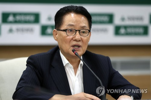 Park Jie-won, floor leader of the Democratic Party (DP)