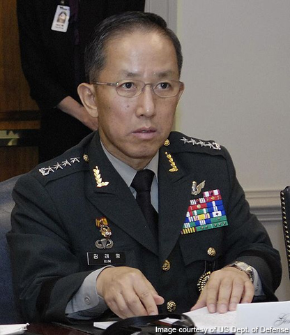 Former Defense Minister Kim Tae-young