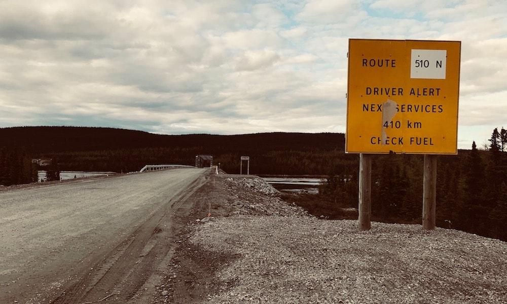 Highway sign on side of Trans-Laborador Highway in Canada.jpg