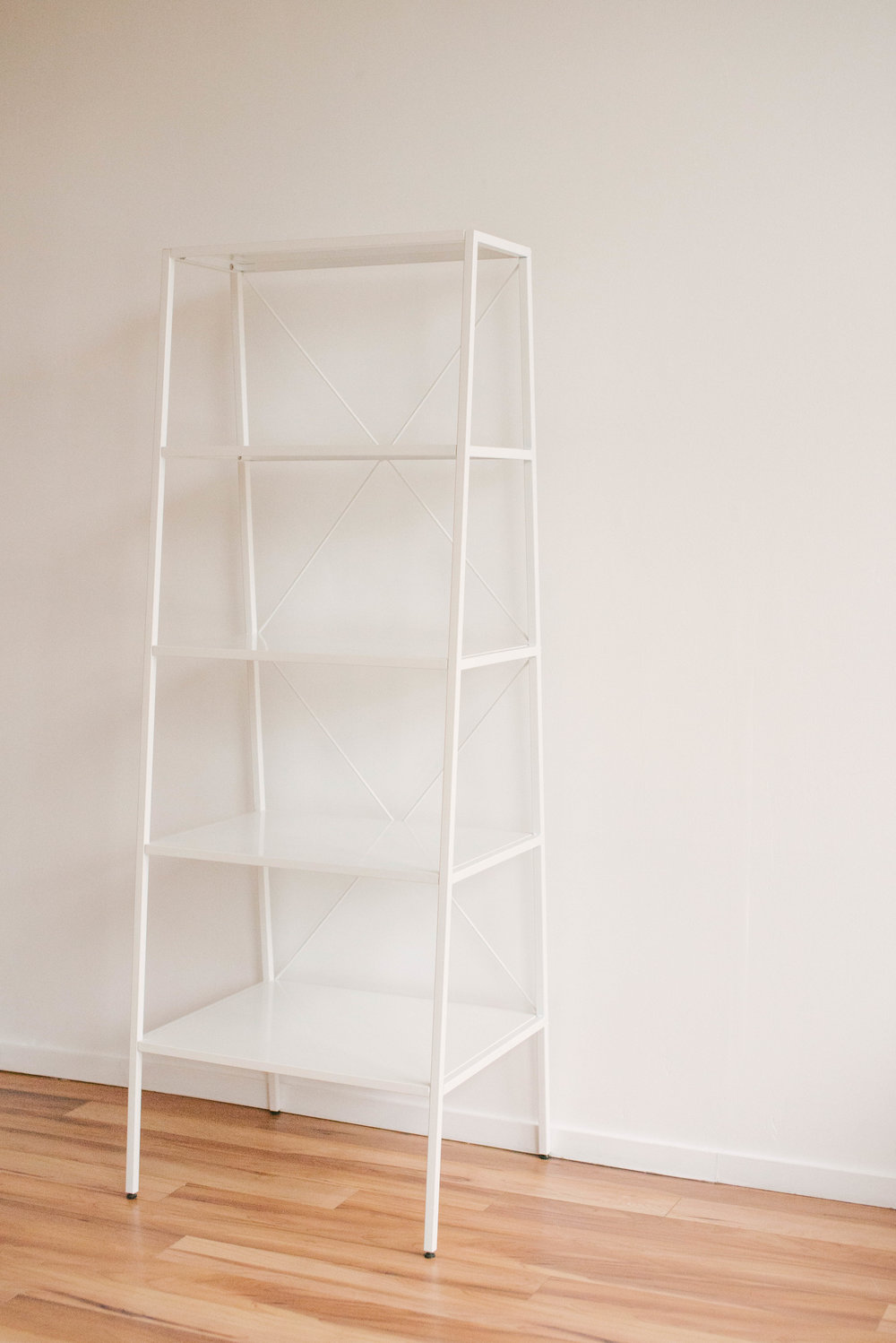Tall White Shelving Unit