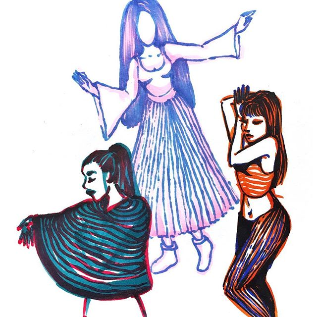 An old doodle of some ladies, I was testing out some new pens 😂 the blue and red lady is my fave, she looks a bit 3D, I like to imagine if I put 3D glasses on she'd pop off the page and say hi 👋  Which one do you like best? 3D lady, spooky ghost lady or miss tango? . . . . . . . . .  #beaumaris #anglesey #photooftheday #instagood #creativepreneur #angleseygram #findyourepic #doitfortheprocess #instaart #puffinprints #dailydoseofcolor #illustration #palette #messyartist #apinchofprocess #littlethings #colour #agameoftones #angleseyart #character #dailyillustration #illustragram #illustration_daily #illustrationartist #illustrationart #illustrationartists #illustrationdesign #illustrationinspiration #illustrationoftheday #illo