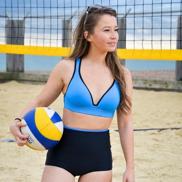 Leilani Ocean Blue Sports Bra - RubyMoon