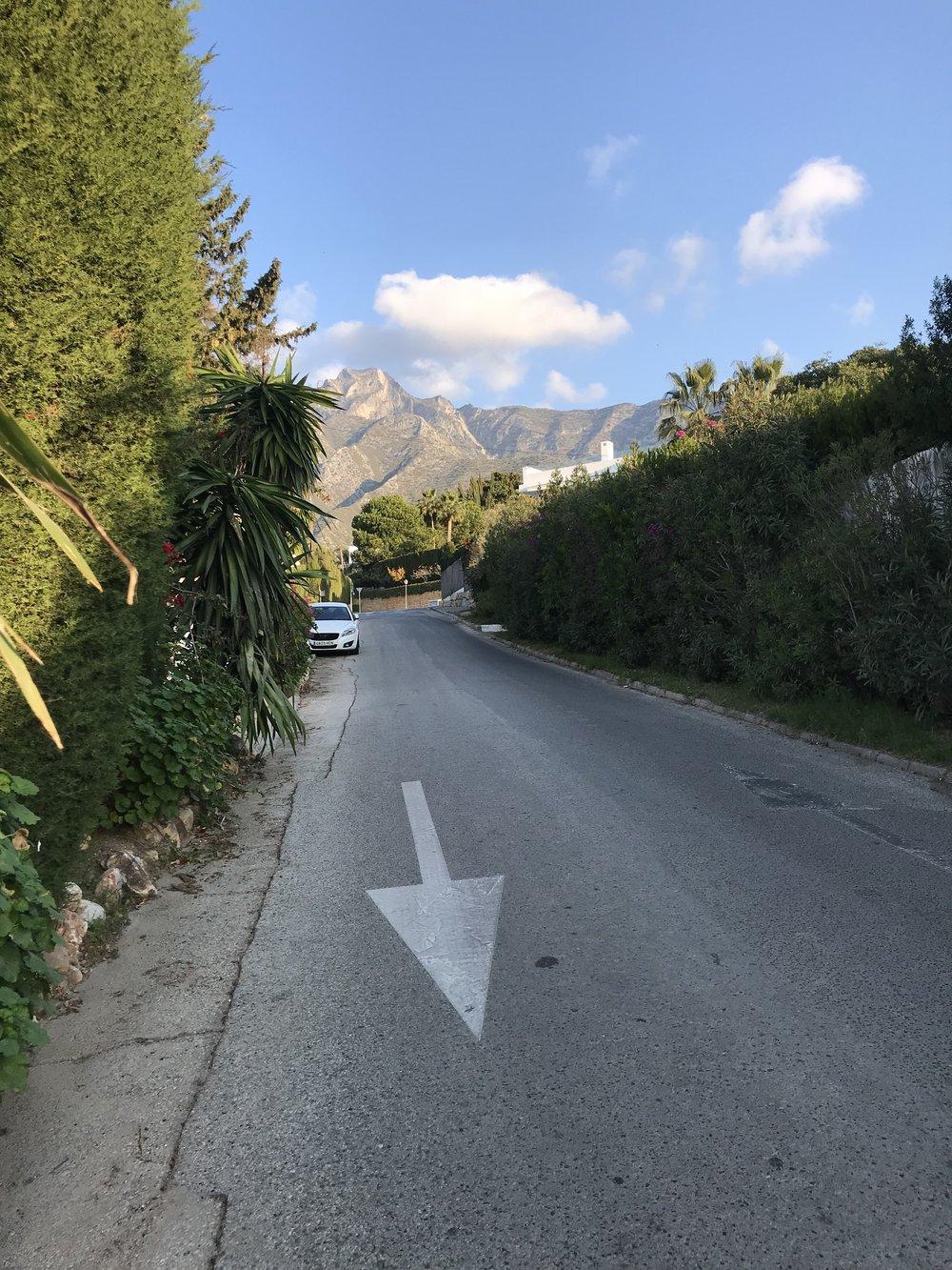 Morning walk in Sierra Blanca, Marbella