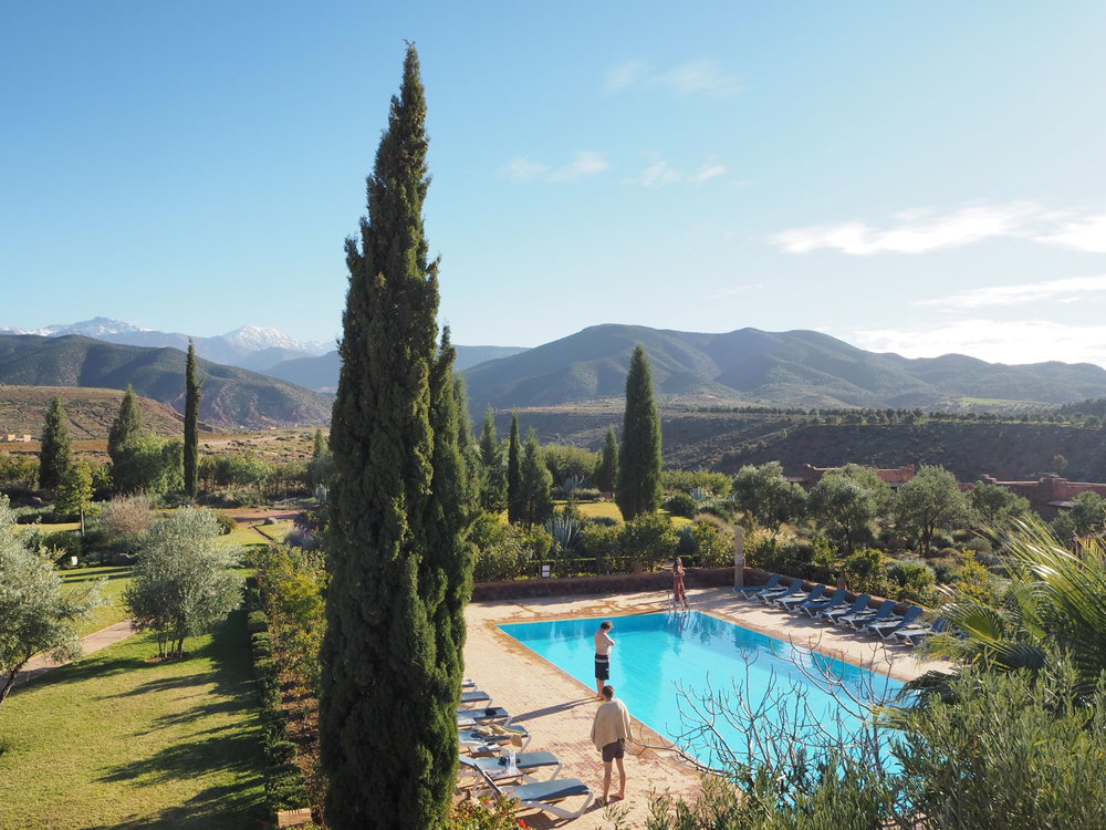 atlas views and a spot for rose, Kasbah angour hotel in tahannout