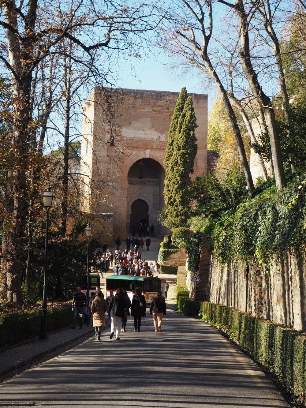 Puerta de la justicia is the original entrance gate to the Alhambra, a grand display of Moorish architecture.