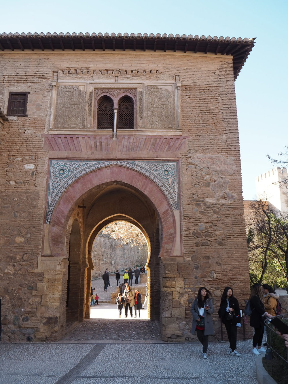 Puerta del vino is one of the oldest constructions at the Alhambra.