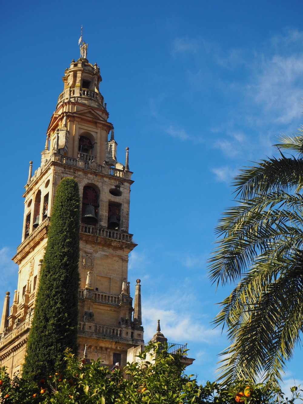 as in seville, the former minaret in Cordoba got a new addition on the top after the reconquista, turning it into a bell tower.