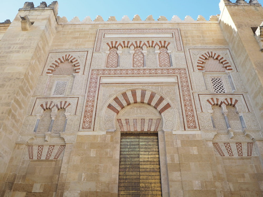 a beautiful exterior wall of the mezquita.