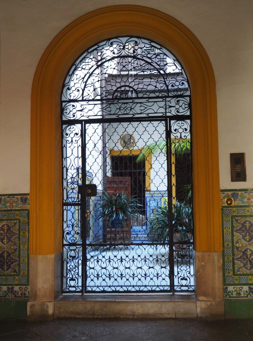 A Marrakech riad or sevillan courtyard? the tiles give it away as spain.