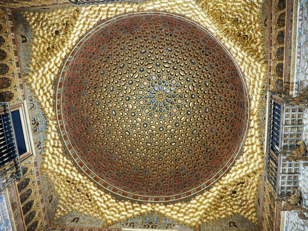 mesmerising detail in the salon de embajadores, hall of ambassadors, in the mudejar palace, also featured on game of thrones.