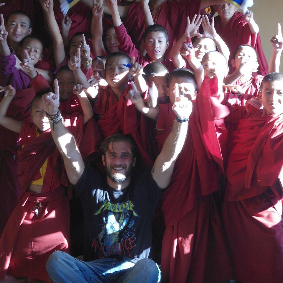 Nepal, Kathmandu - January 16, 2019   Buddhist School